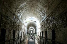 """Eastern State Penitentiary in Philadelphia. The prison was home to America's most notorious criminals, including bank robber """"Slick Willie"""" Sutton and Al Capone. (Photo/Kendra Yost)"""